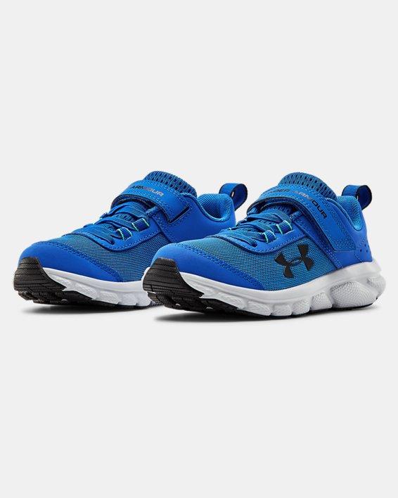 Pre-School UA Assert 8 AC Running Shoes Running Shoes, Blue, pdpMainDesktop image number 3