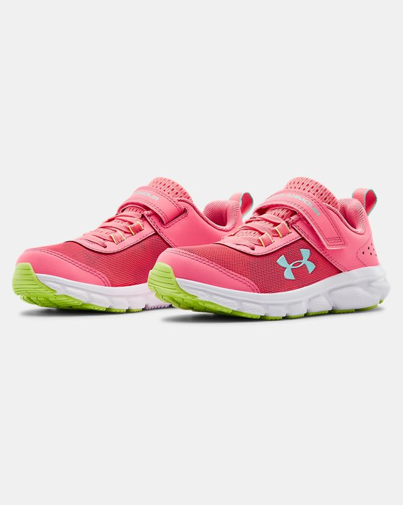Pre-School UA Assert 8 AC Running Shoes Running Shoes, Pink, pdpMainDesktop image number 3
