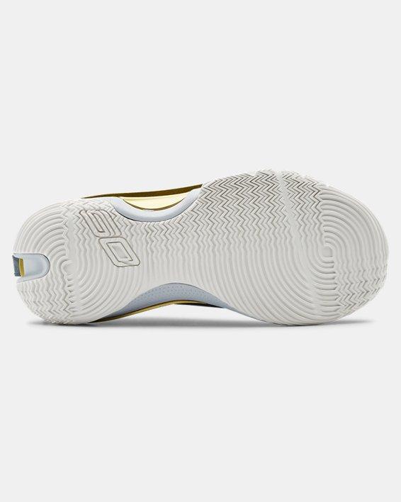 Kids' Grade School UA Curry 7 Basketball Shoes, Gray, pdpMainDesktop image number 4