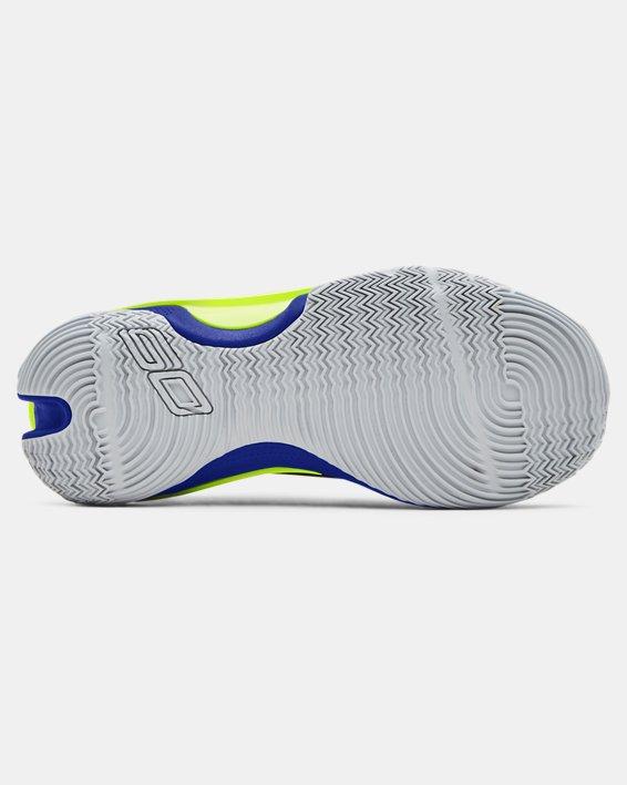 Kids' Grade School UA Curry 7 Basketball Shoes, Navy, pdpMainDesktop image number 4