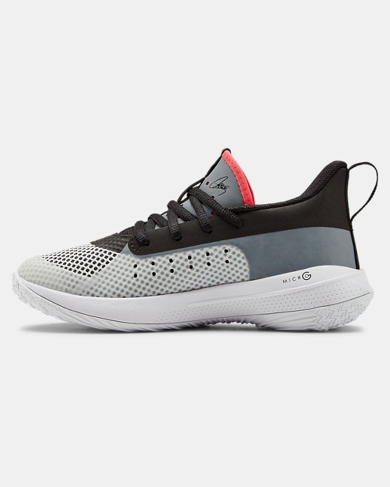Kids' Pre-School UA Curry 7 Basketball Shoes, White, pdpMainDesktop image number 1