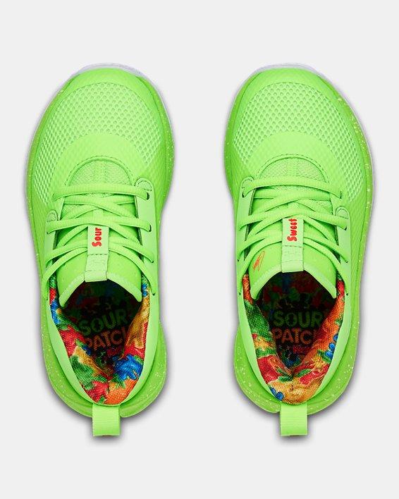 Kids' Pre-School UA Curry 7 Basketball Shoes, Green, pdpMainDesktop image number 2