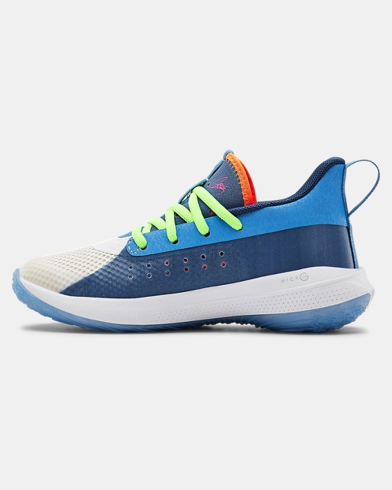 Kids' Pre-School UA Curry 7 Basketball Shoes, Blue, pdpMainDesktop image number 1