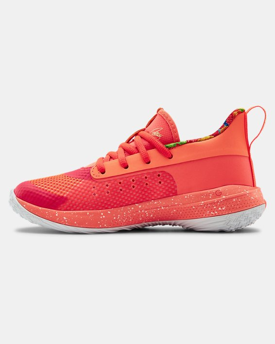 Kids' Pre-School UA Curry 7 Basketball Shoes, Red, pdpMainDesktop image number 1