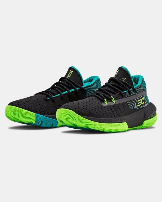 Grade School UA SC 3ZER0 III Basketball Shoes, Black, pdpMainDesktop image number 4