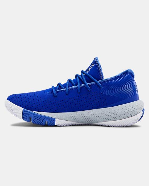 Grade School UA SC 3ZER0 III Basketball Shoes, Blue, pdpMainDesktop image number 1