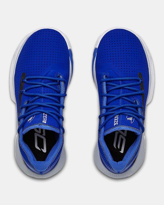 Grade School UA SC 3ZER0 III Basketball Shoes, Blue, pdpMainDesktop image number 3