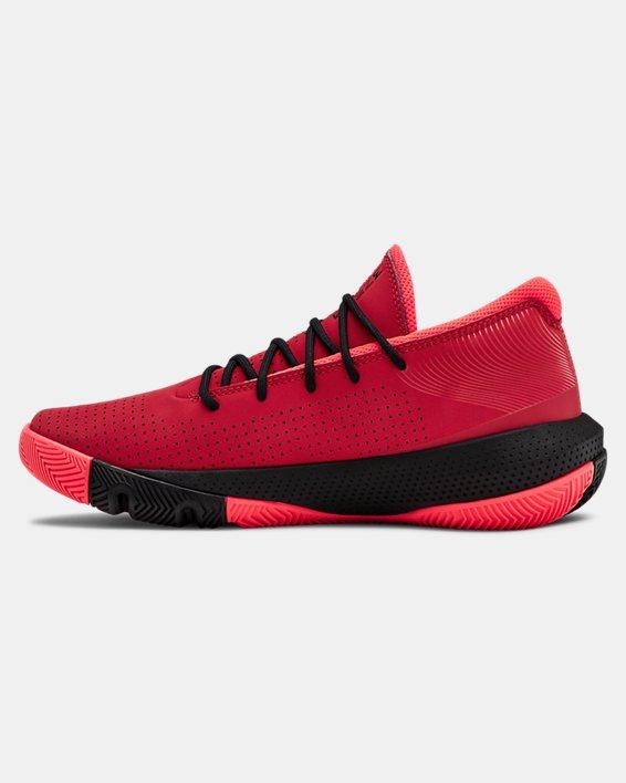 Grade School UA SC 3ZER0 III Basketball Shoes, Red, pdpMainDesktop image number 1