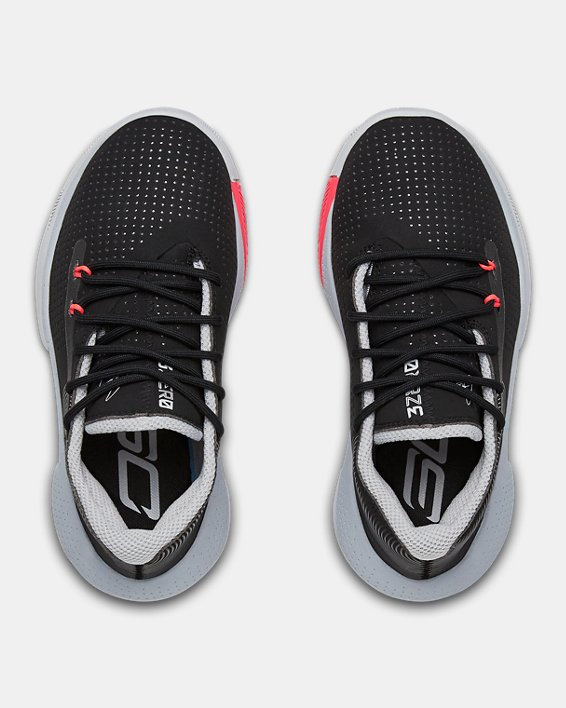 Pre-School UA SC 3ZER0 III Basketball Shoes, Black, pdpMainDesktop image number 3