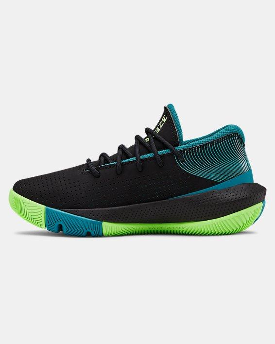 Pre-School UA SC 3ZER0 III Basketball Shoes, Black, pdpMainDesktop image number 1