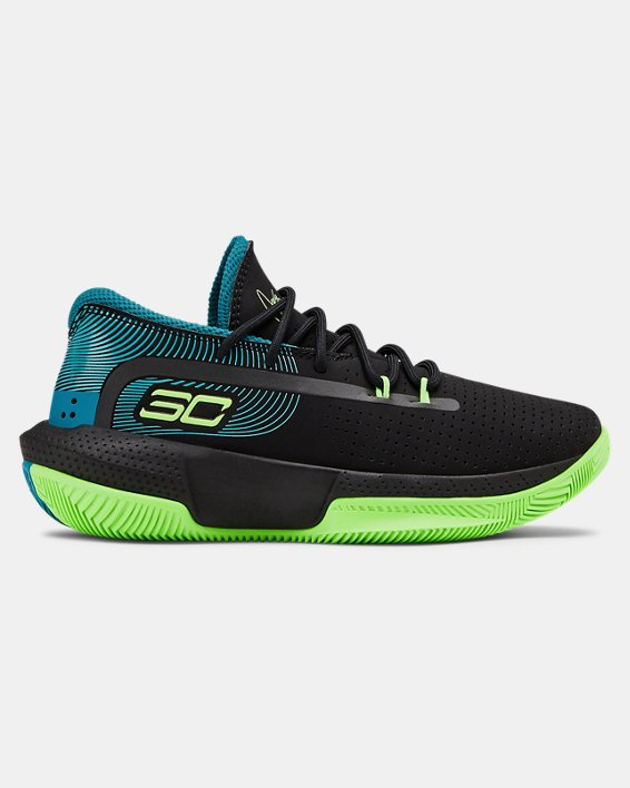 Pre-School UA SC 3ZER0 III Basketball Shoes, Black, pdpMainDesktop image number 0