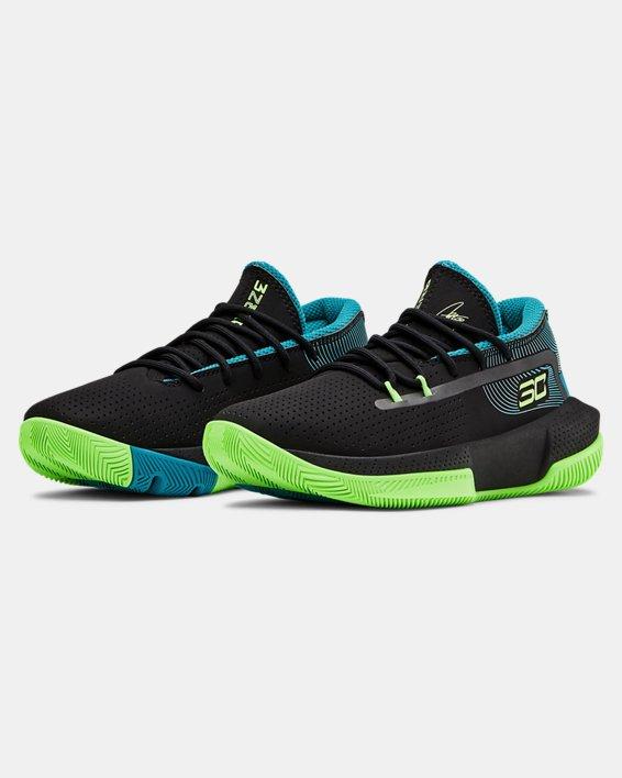 Pre-School UA SC 3ZER0 III Basketball Shoes, Black, pdpMainDesktop image number 4