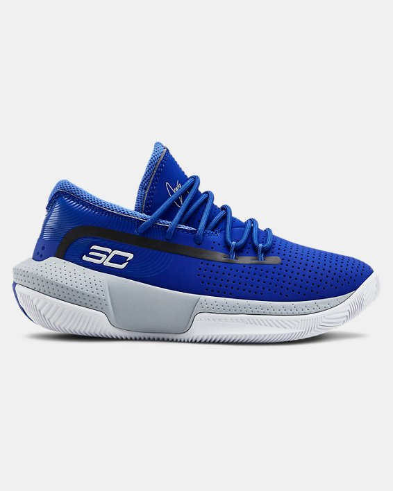 Pre-School UA SC 3ZER0 III Basketball Shoes, Blue, pdpMainDesktop image number 0