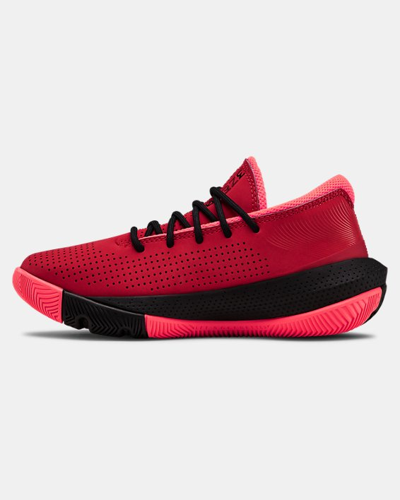 Pre-School UA SC 3ZER0 III Basketball Shoes, Red, pdpMainDesktop image number 1