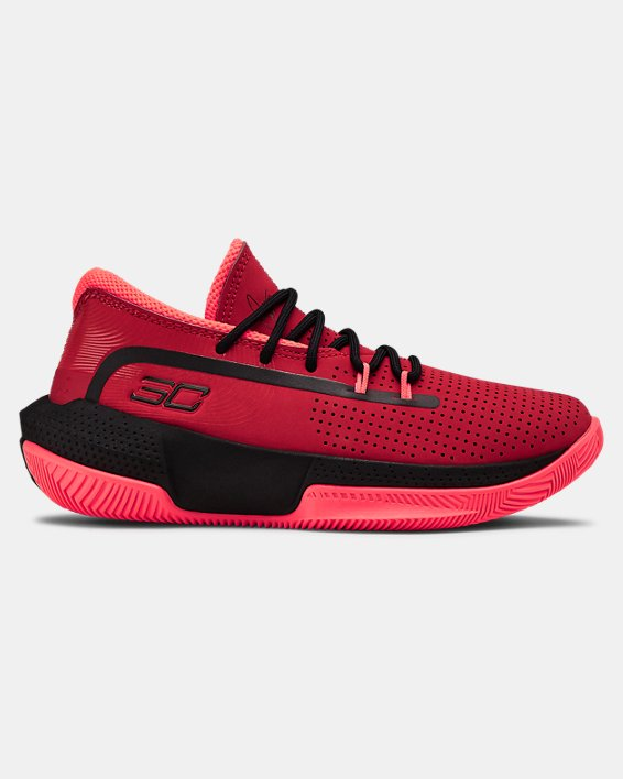 Pre-School UA SC 3ZER0 III Basketball Shoes, Red, pdpMainDesktop image number 0