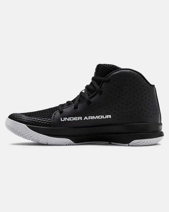 Grade School UA Jet 2019 Basketball Shoes, Black, pdpMainDesktop image number 1