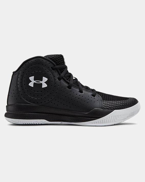 Grade School UA Jet 2019 Basketball Shoes, Black, pdpMainDesktop image number 0