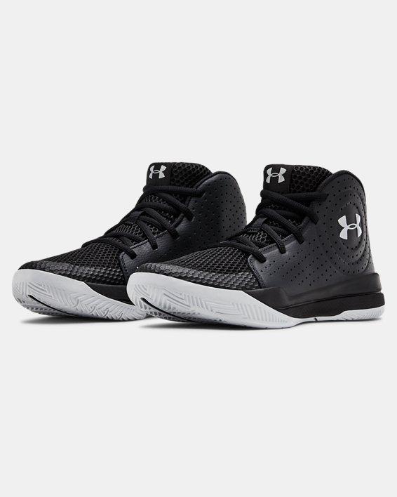 Grade School UA Jet 2019 Basketball Shoes, Black, pdpMainDesktop image number 3
