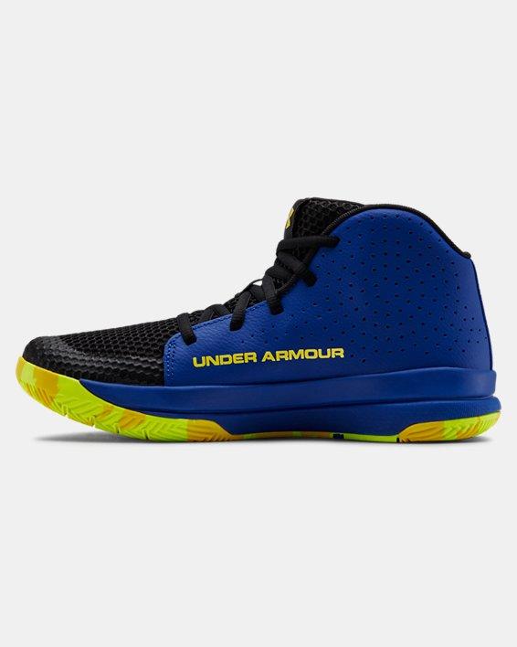 Grade School UA Jet 2019 Basketball Shoes, Blue, pdpMainDesktop image number 1