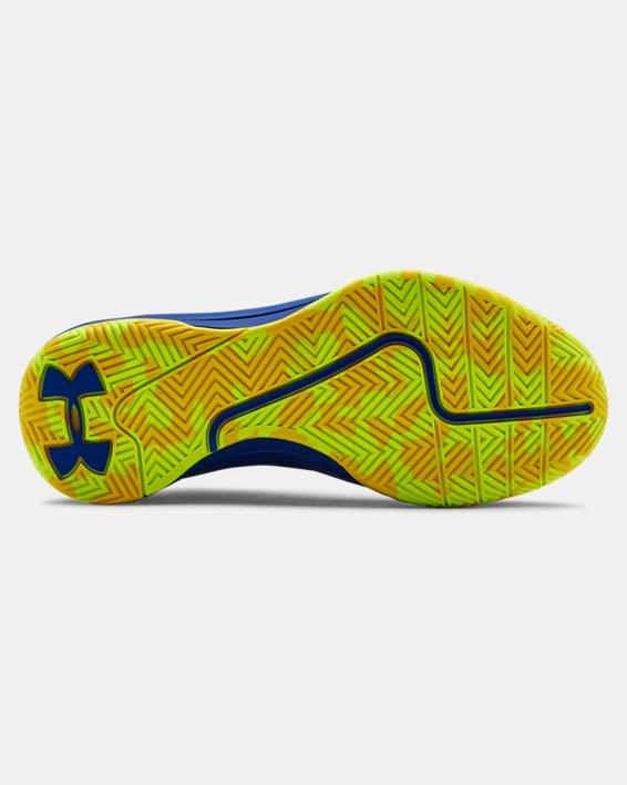 Grade School UA Jet 2019 Basketball Shoes, Blue, pdpMainDesktop image number 4