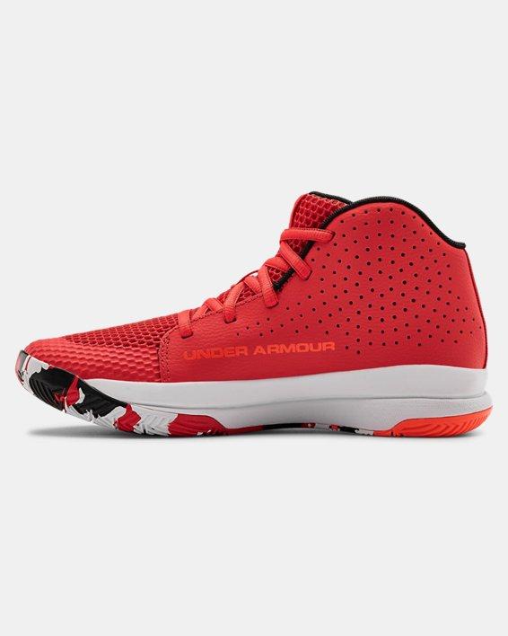 Grade School UA Jet 2019 Basketball Shoes, Red, pdpMainDesktop image number 1