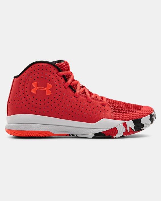 Grade School UA Jet 2019 Basketball Shoes, Red, pdpMainDesktop image number 0