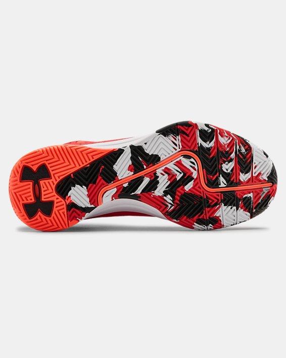 Grade School UA Jet 2019 Basketball Shoes, Red, pdpMainDesktop image number 4