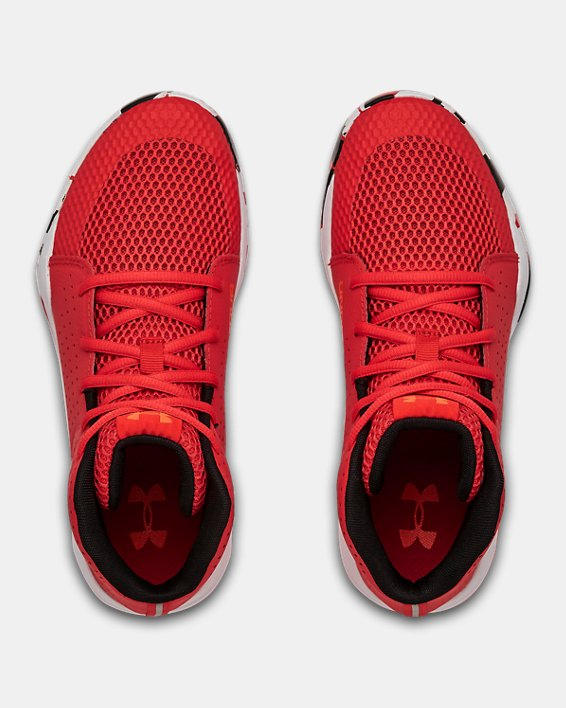 Grade School UA Jet 2019 Basketball Shoes, Red, pdpMainDesktop image number 2