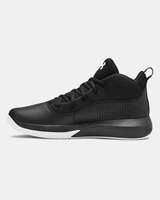 Grade School UA Lockdown 4 Basketball Shoes