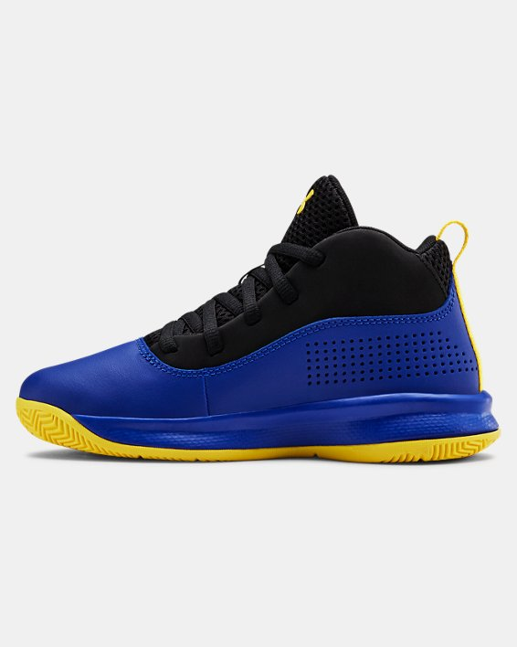 Pre-School UA Lockdown 4 Basketball Shoes, Blue, pdpMainDesktop image number 1