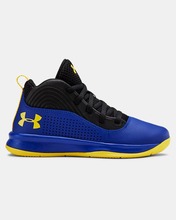 Pre-School UA Lockdown 4 Basketball Shoes, Blue, pdpMainDesktop image number 0