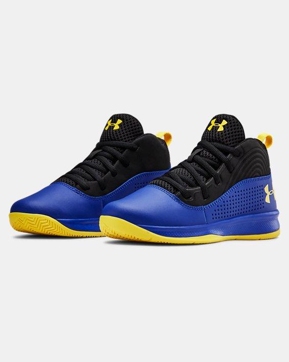Pre-School UA Lockdown 4 Basketball Shoes, Blue, pdpMainDesktop image number 4