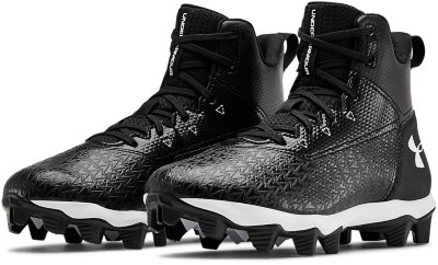 NEW Under Armour Youth Boy/'s Hammer Mid Football Cleats WIDE Blk//Wht #302 1G tz