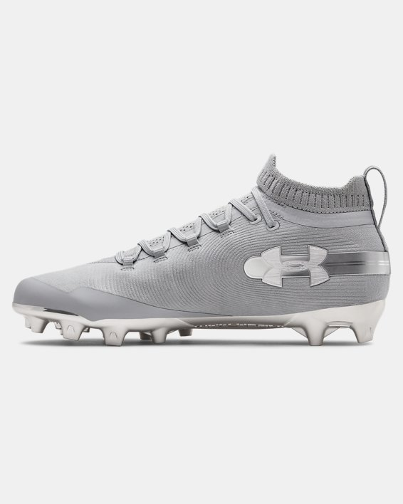 Men's UA Spotlight Suede MC Football Cleats, Gray, pdpMainDesktop image number 1