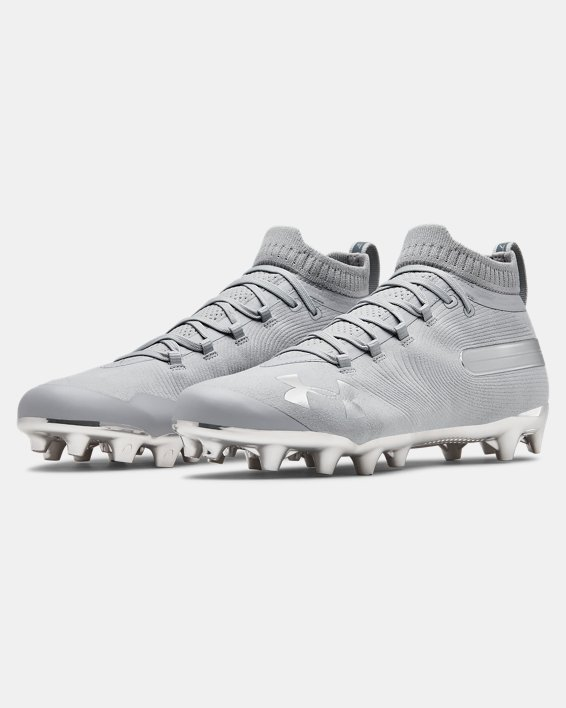 Men's UA Spotlight Suede MC Football Cleats, Gray, pdpMainDesktop image number 4