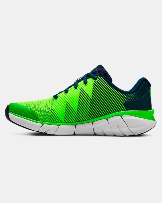 Boys' Grade School UA X Level Scramjet 2 Running Shoes, Green, pdpMainDesktop image number 1