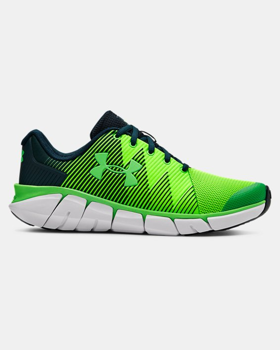Boys' Grade School UA X Level Scramjet 2 Running Shoes, Green, pdpMainDesktop image number 0