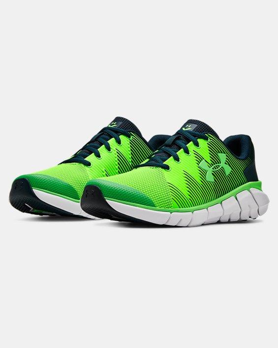 Boys' Grade School UA X Level Scramjet 2 Running Shoes, Green, pdpMainDesktop image number 3