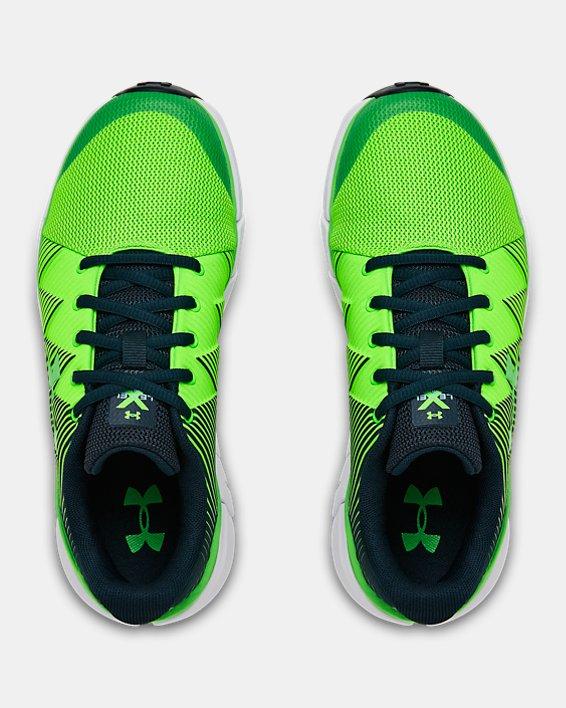 Boys' Grade School UA X Level Scramjet 2 Running Shoes, Green, pdpMainDesktop image number 2