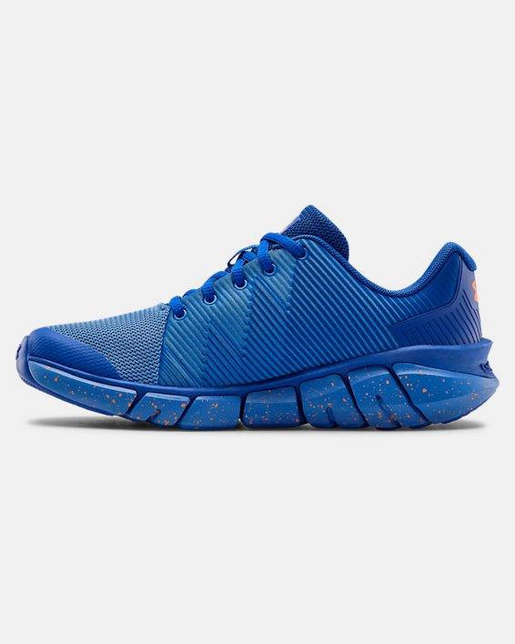 Boys' Grade School UA X Level Scramjet 2 Running Shoes, Blue, pdpMainDesktop image number 1