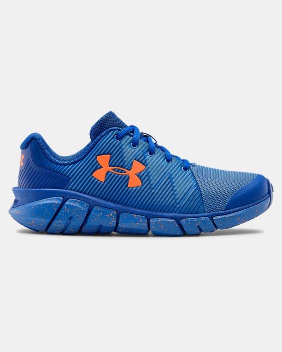 Boys' Grade School UA X Level Scramjet 2 Running Shoes, Blue, pdpMainDesktop image number 0