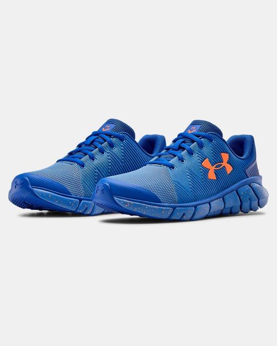 Boys' Grade School UA X Level Scramjet 2 Running Shoes, Blue, pdpMainDesktop image number 3