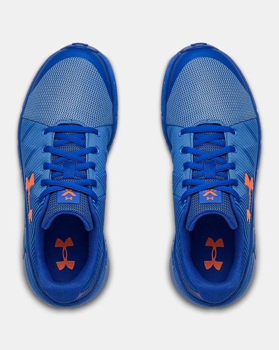 Boys' Grade School UA X Level Scramjet 2 Running Shoes, Blue, pdpMainDesktop image number 2