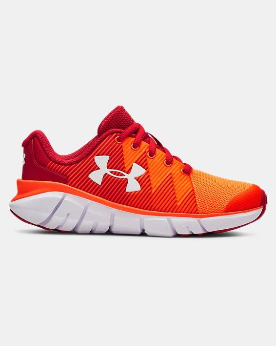 Boys' Pre-School UA X Level Scramjet 2 Running Shoes, Red, pdpMainDesktop image number 0