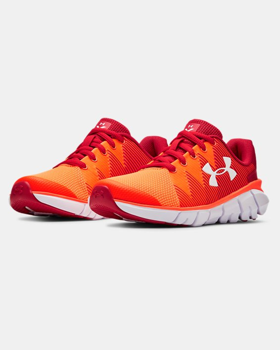 Boys' Pre-School UA X Level Scramjet 2 Running Shoes, Red, pdpMainDesktop image number 4