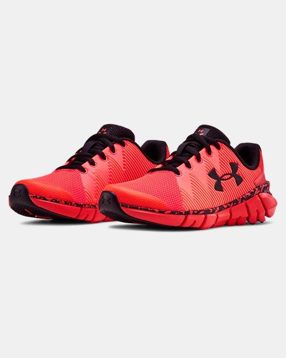 Boys' Pre-School UA X Level Scramjet 2 Running Shoes, Red, pdpMainDesktop image number 4