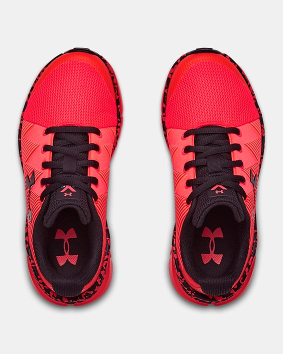 Boys' Pre-School UA X Level Scramjet 2 Running Shoes, Red, pdpMainDesktop image number 3