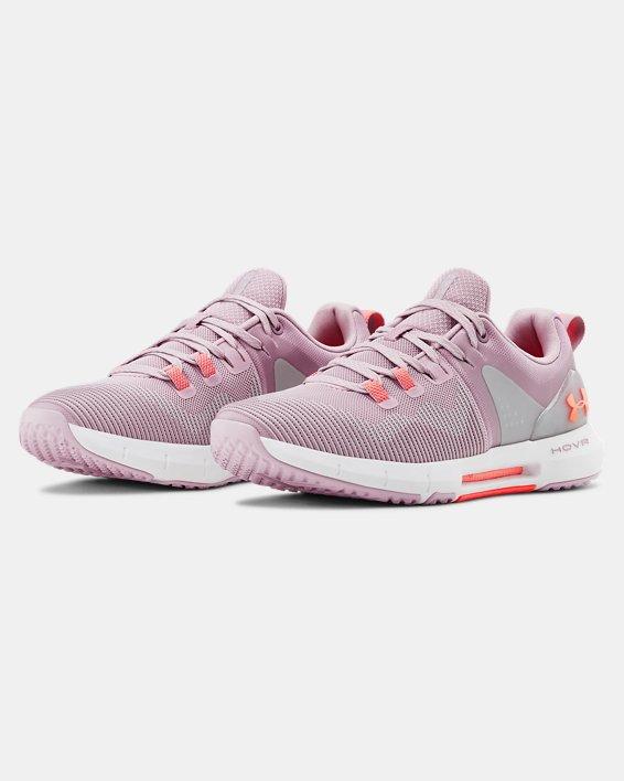 Women's UA HOVR™ Rise Training Shoes, Pink, pdpMainDesktop image number 3