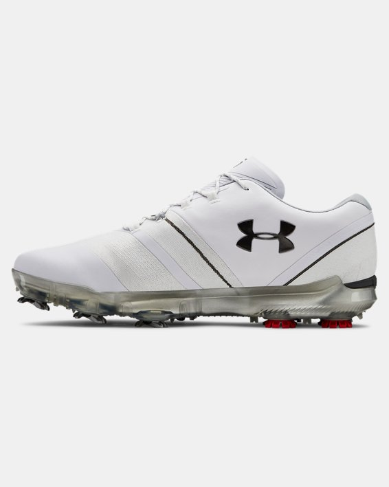 Men's UA Spieth 3 Wide 2E Golf Shoes, White, pdpMainDesktop image number 1
