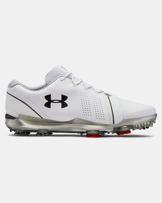 Men's UA Spieth 3 Wide 2E Golf Shoes, White, pdpMainDesktop image number 0